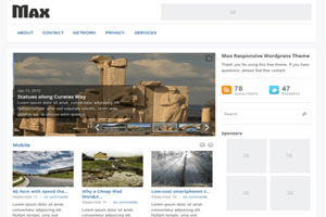 Max Magazine free wordpress theme