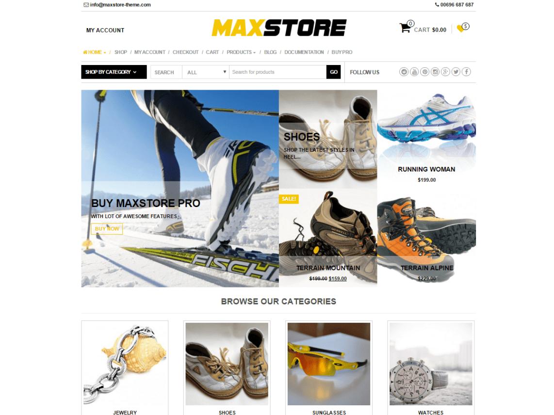 MaxStore free responsive theme shop theme
