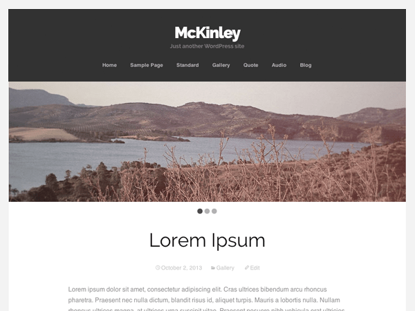 McKinley free wordpress theme