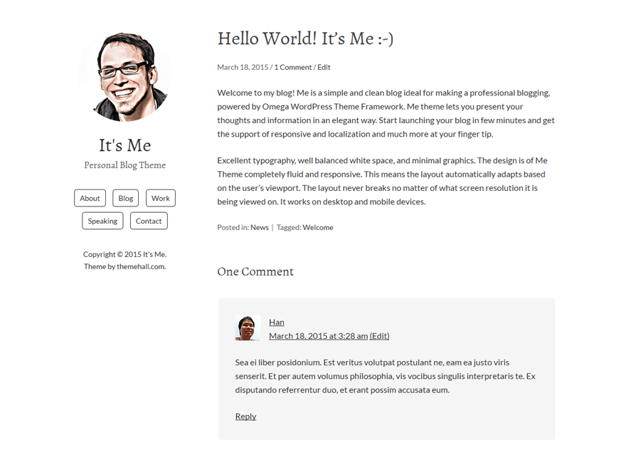 Me free wordpress theme