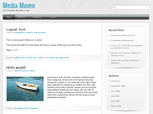 Media Maven free wordpress theme