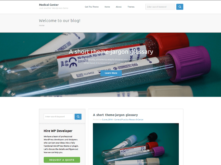 Medical Center theme wordpress gratuit