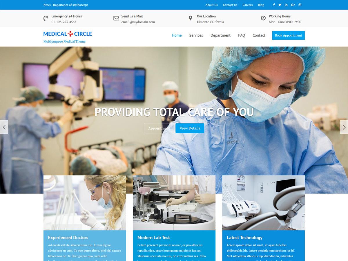 Medical Circle - WordPress theme | WordPress org