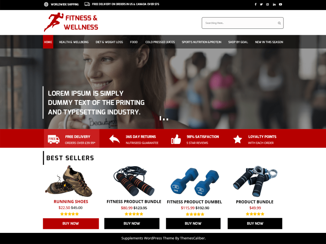 Medical Supplements Store Theme Free Download