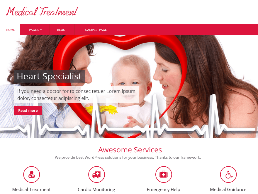 Medical Treatment free wordpress theme