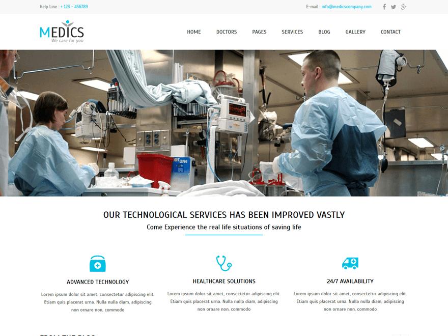 Medics theme wordpress gratuit