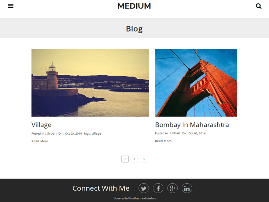 Medium free wordpress theme