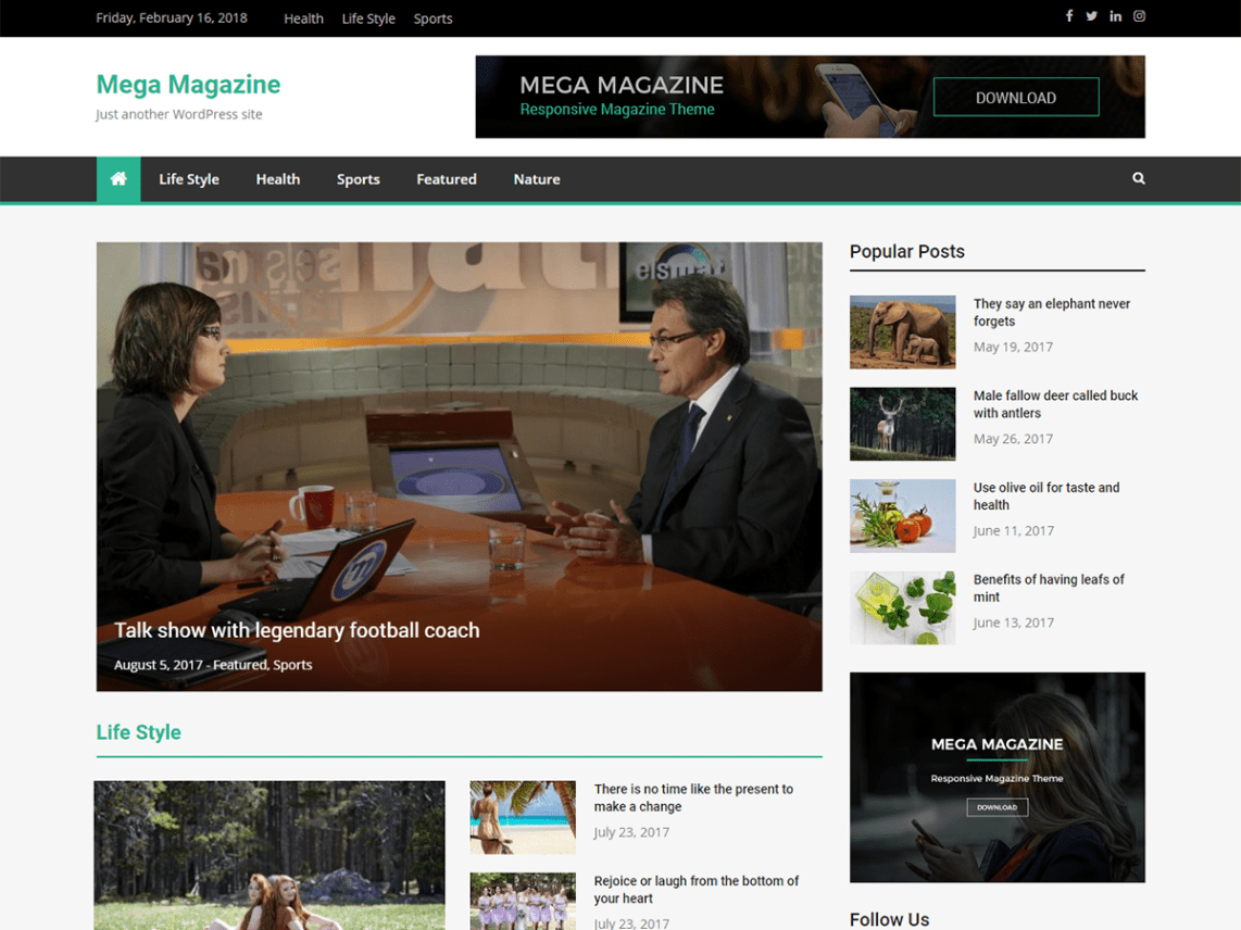 Mega Magazine WP Theme