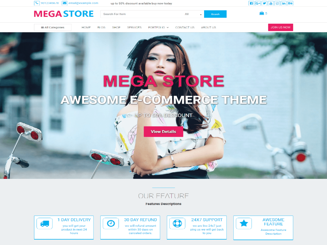 Mega Store Theme Free Download