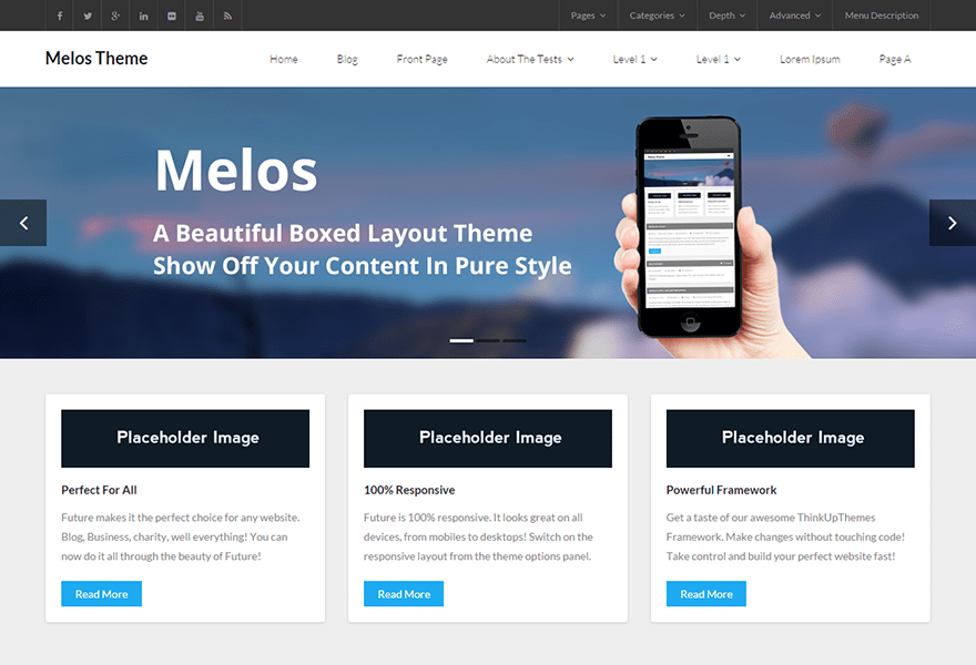 Melos free wordpress themes melos is the free version of the multi purpose professional theme melos pro ideal for a business or blog website the theme has a responsive layout pronofoot35fo Gallery