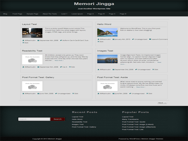 Memori Jingga free wordpress theme