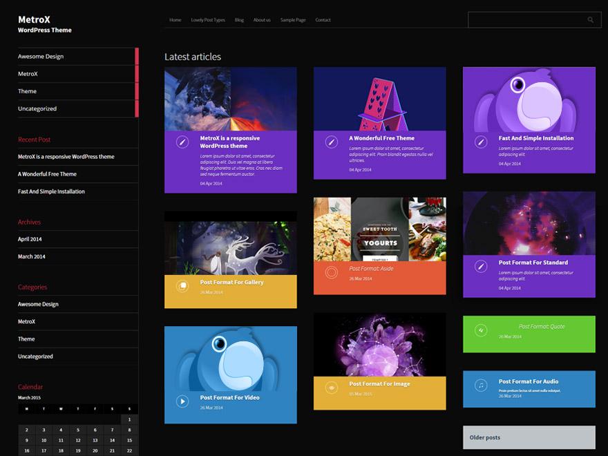 Metro Creativex Teması Ücretsiz İndir