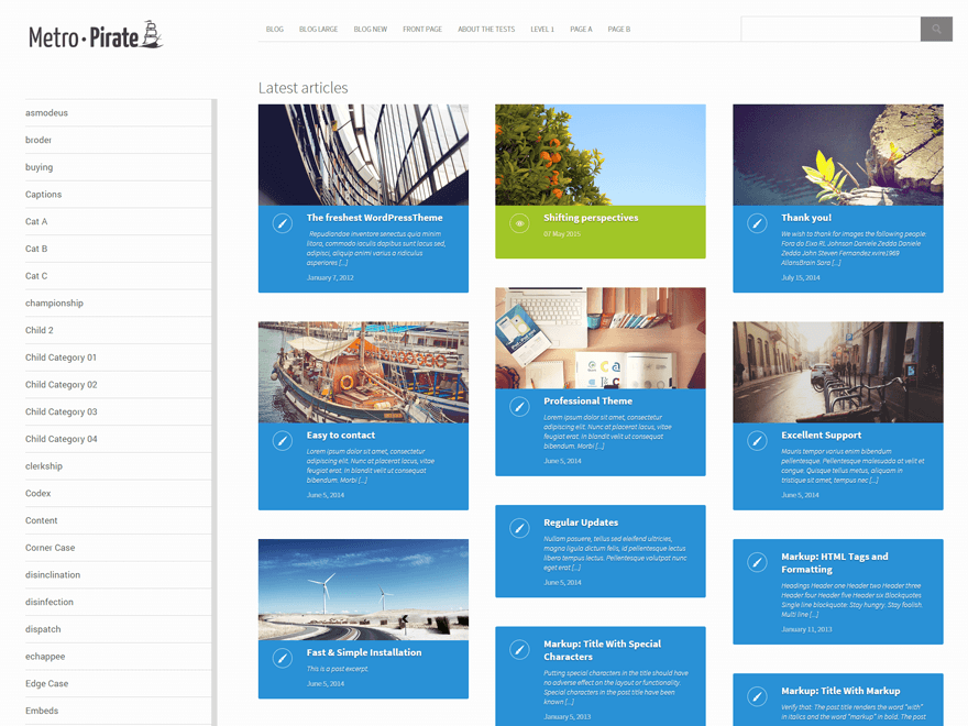 metro-pirate free wordpress theme
