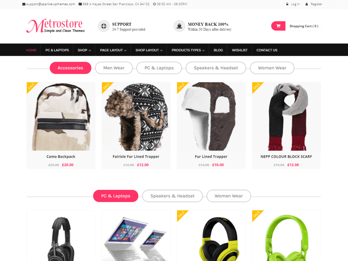 MetroStore Theme Free Download