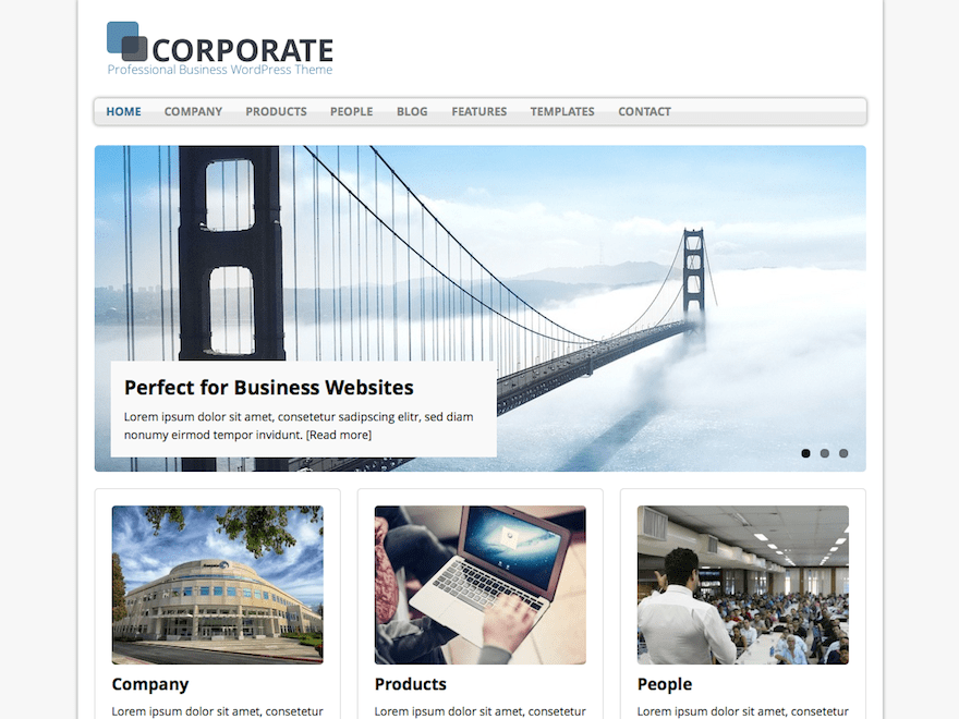 MH Corporate basic free wordpress theme
