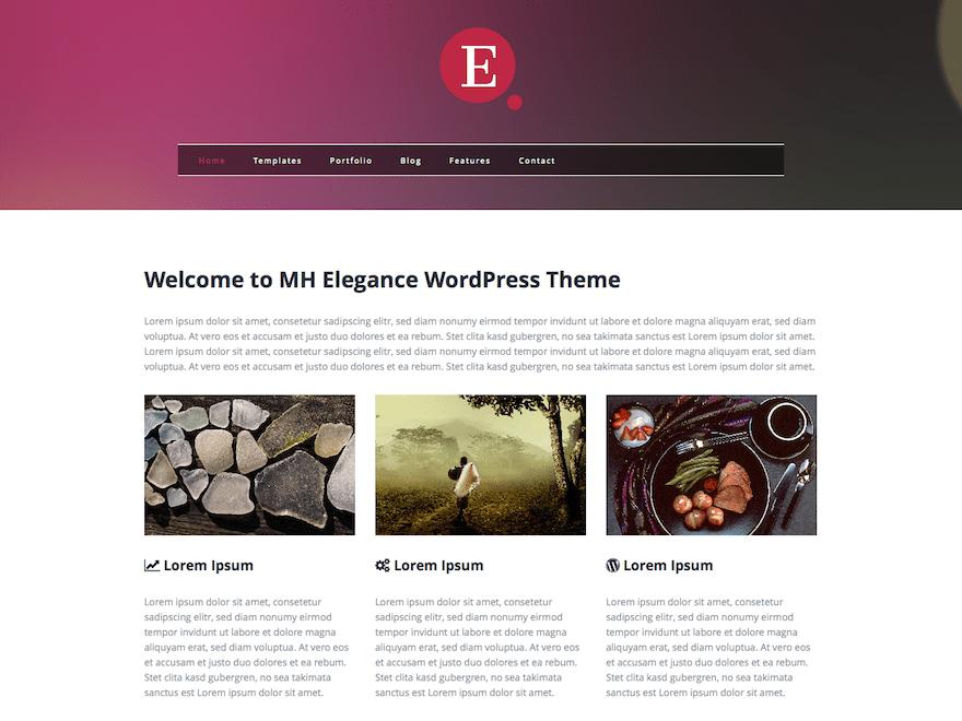 Mh Elegance Lite wordpress theme