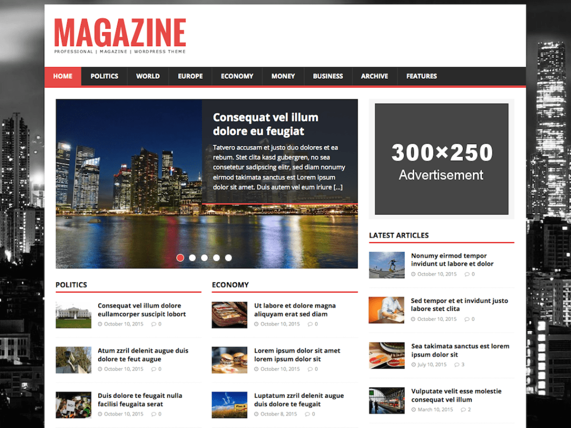 MH Magazine Lite – WordPress Theme