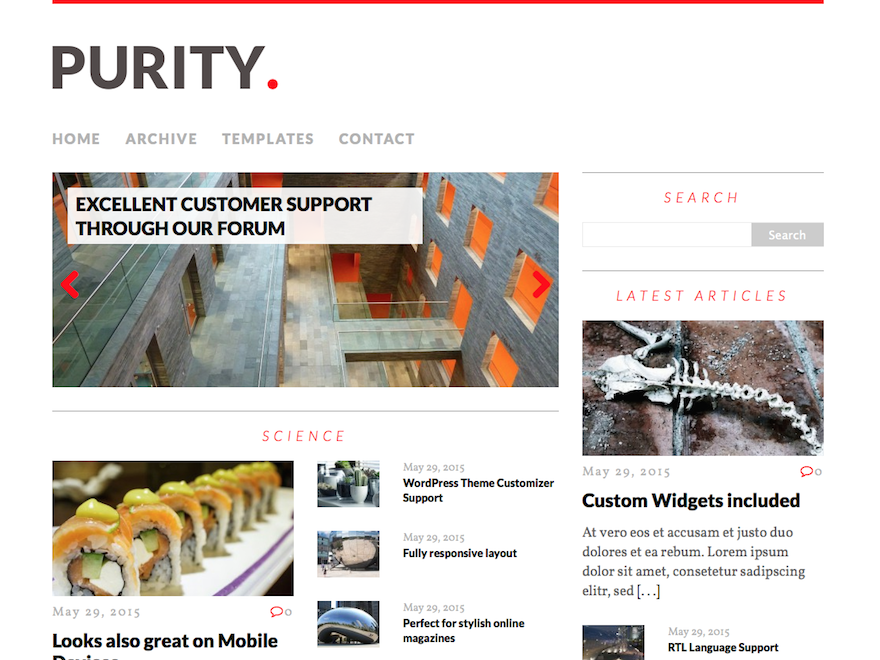 MH Purity lite free wordpress theme