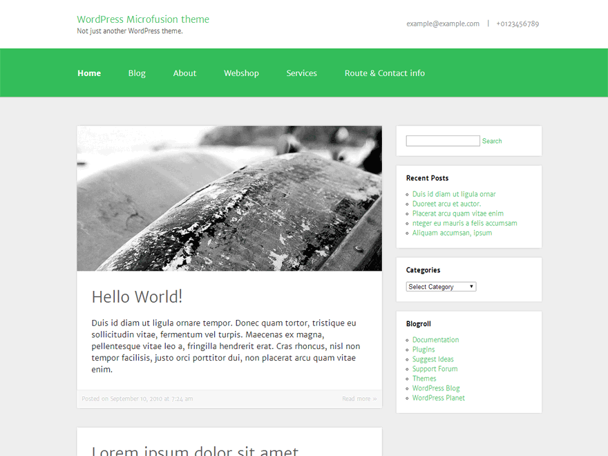 Microfusion free wordpress theme
