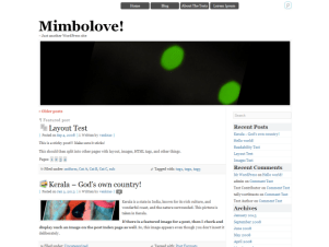 Mimbolove free wordpress theme
