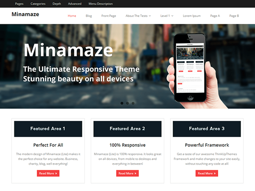 Minamaze free wordpress theme