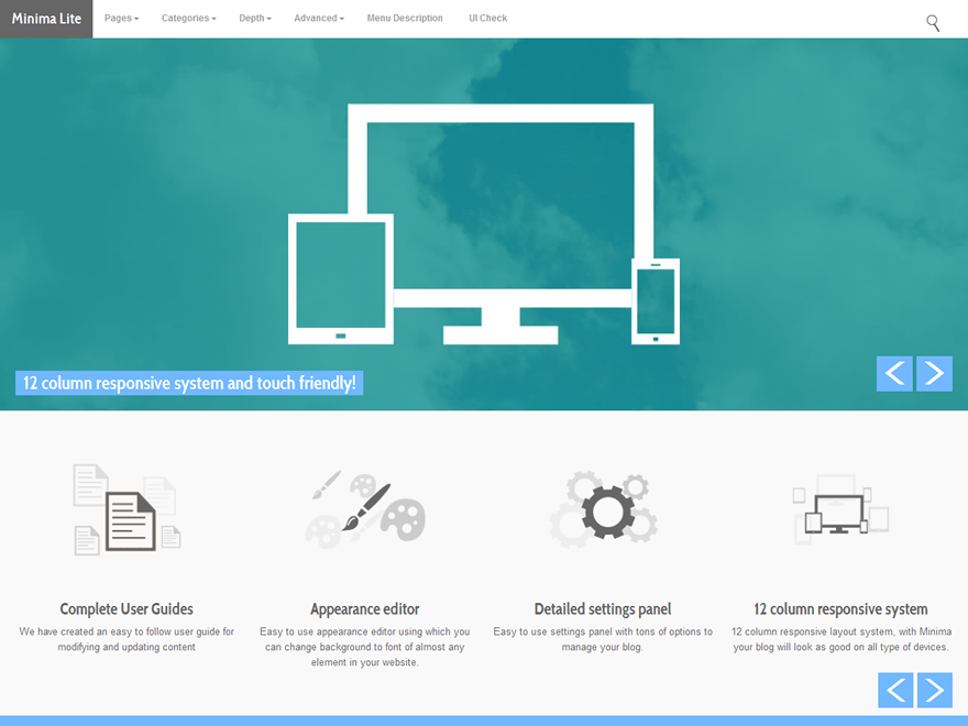 Minima Lite theme wordpress gratuit