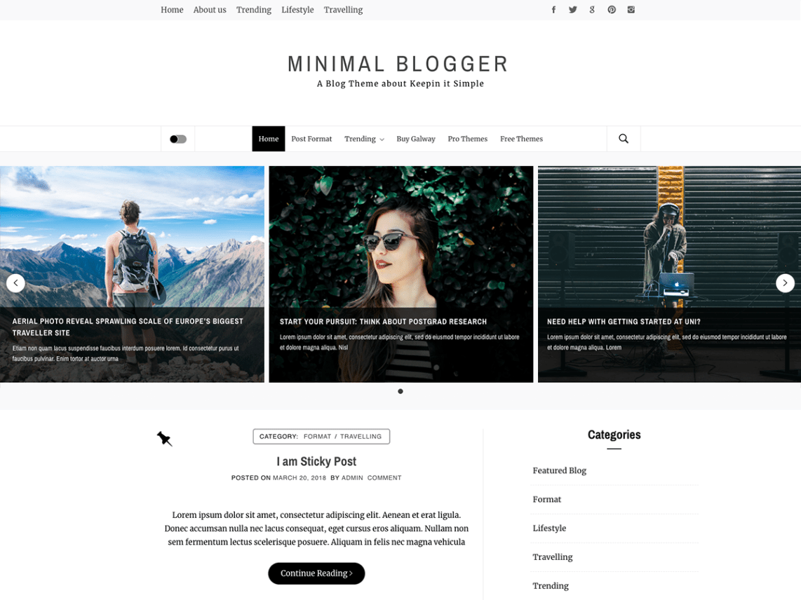 Minimal Blogger Theme Free Download