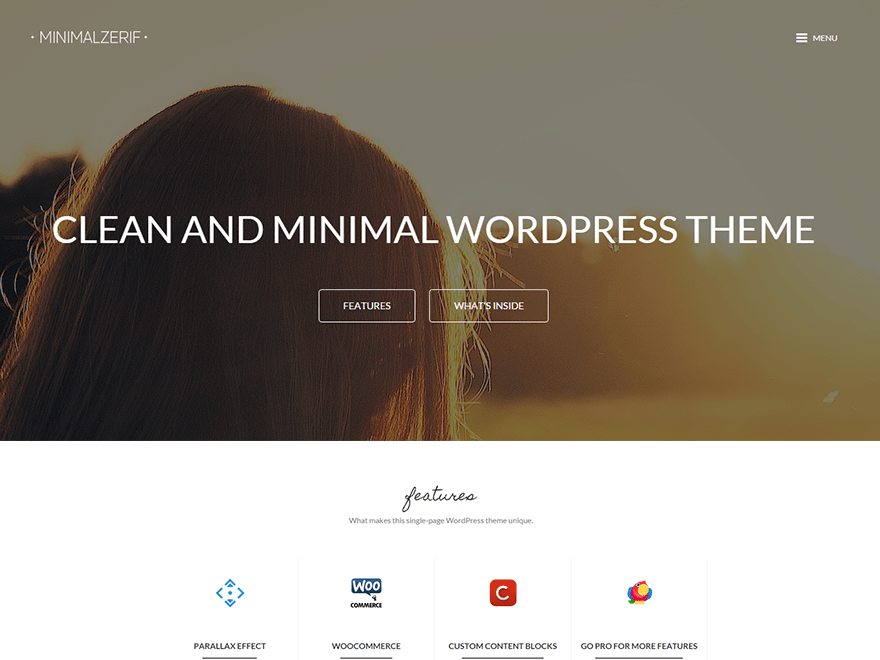 MinimalZerif free wordpress theme