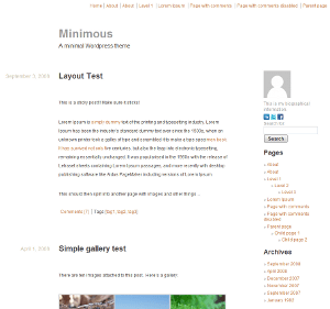 Minimous free wordpress theme