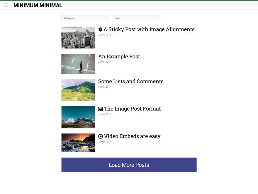 Minimum Minimal theme wordpress gratuit