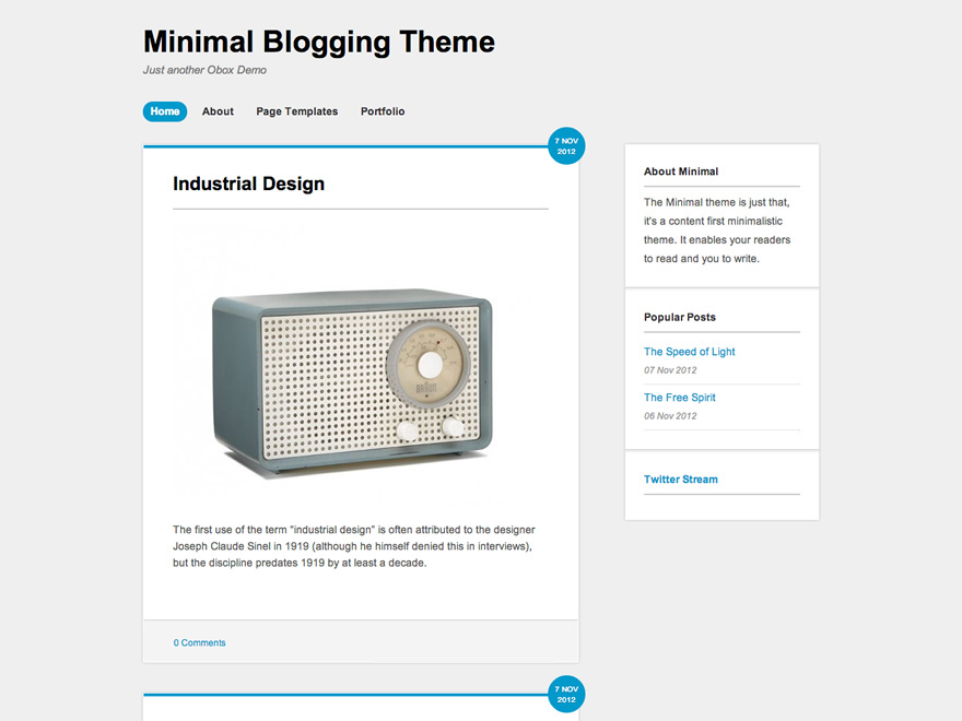 Minipress free wordpress theme