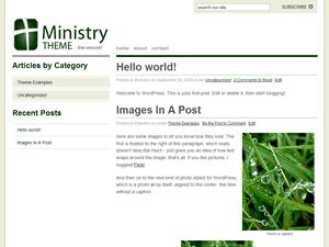 Ministry Free wordpress theme