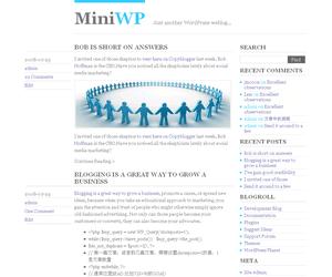 MiniWP free wordpress theme