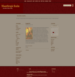Misanthropic Realm free wordpress theme