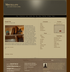 Miscellany free wordpress theme