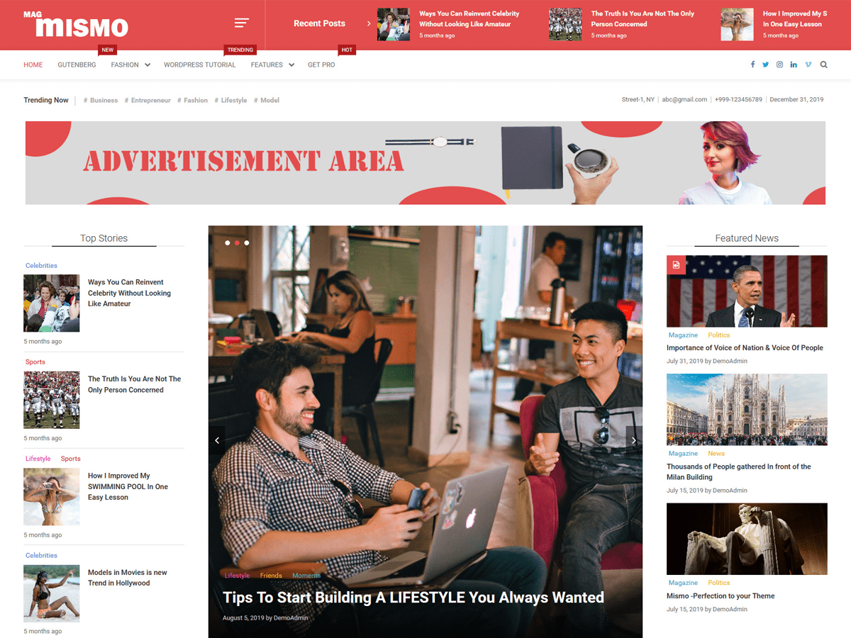 Mismo - WordPress theme | WordPress.org Español (Costa Rica)