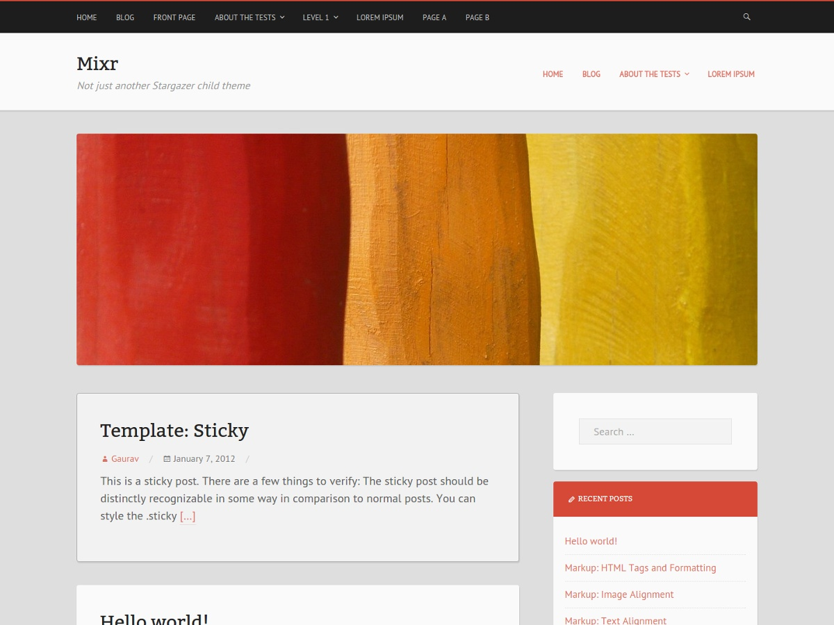 Mixr free wordpress theme