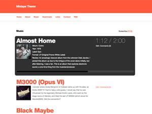Mixtape free wordpress theme