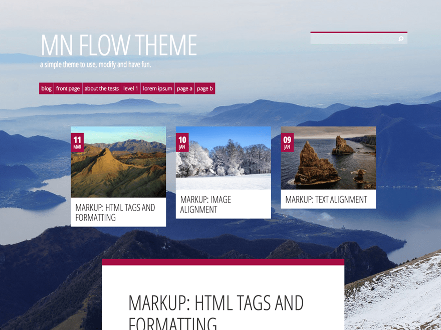 MN Flow free wordpress theme