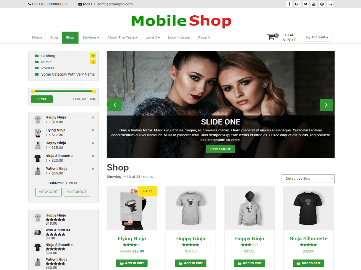 ... Powerful multipurpose WooCommerce WordPress Theme. Mobile Shop is the perfect free theme for e-commerce shop. Mobile Shop is responsive mobile optimized ...