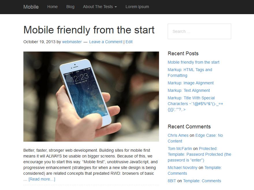 Mobile theme wordpress gratuit