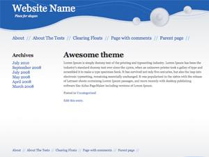 Modern Blue Style wordpress theme