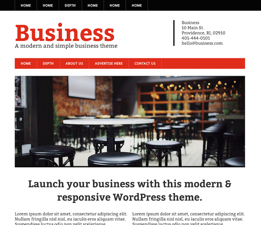 modern business wordpress org