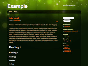 Modern Green Theme wordpress theme