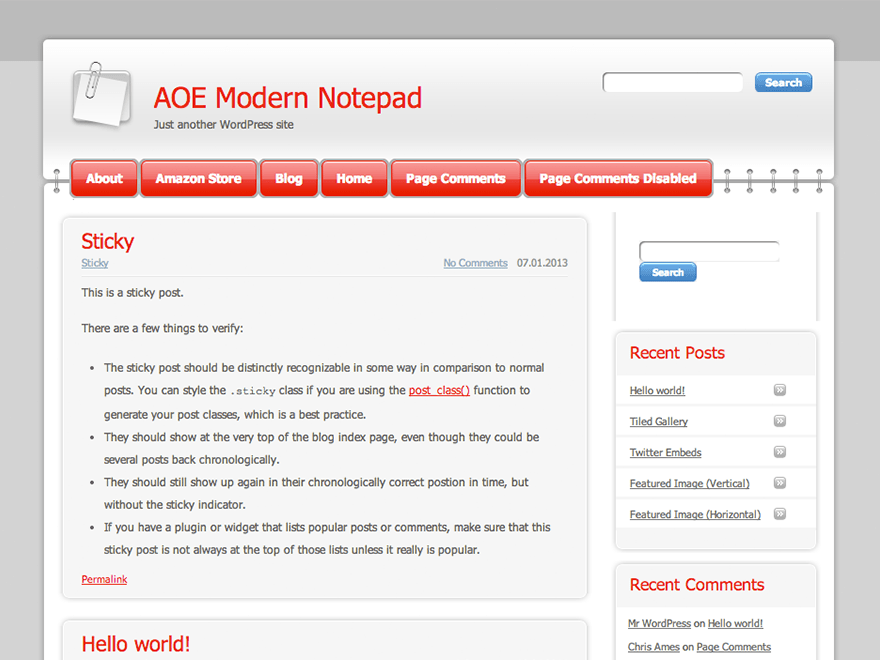 Modern Notepad free wordpress theme