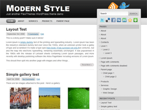 Modern Style wordpress theme