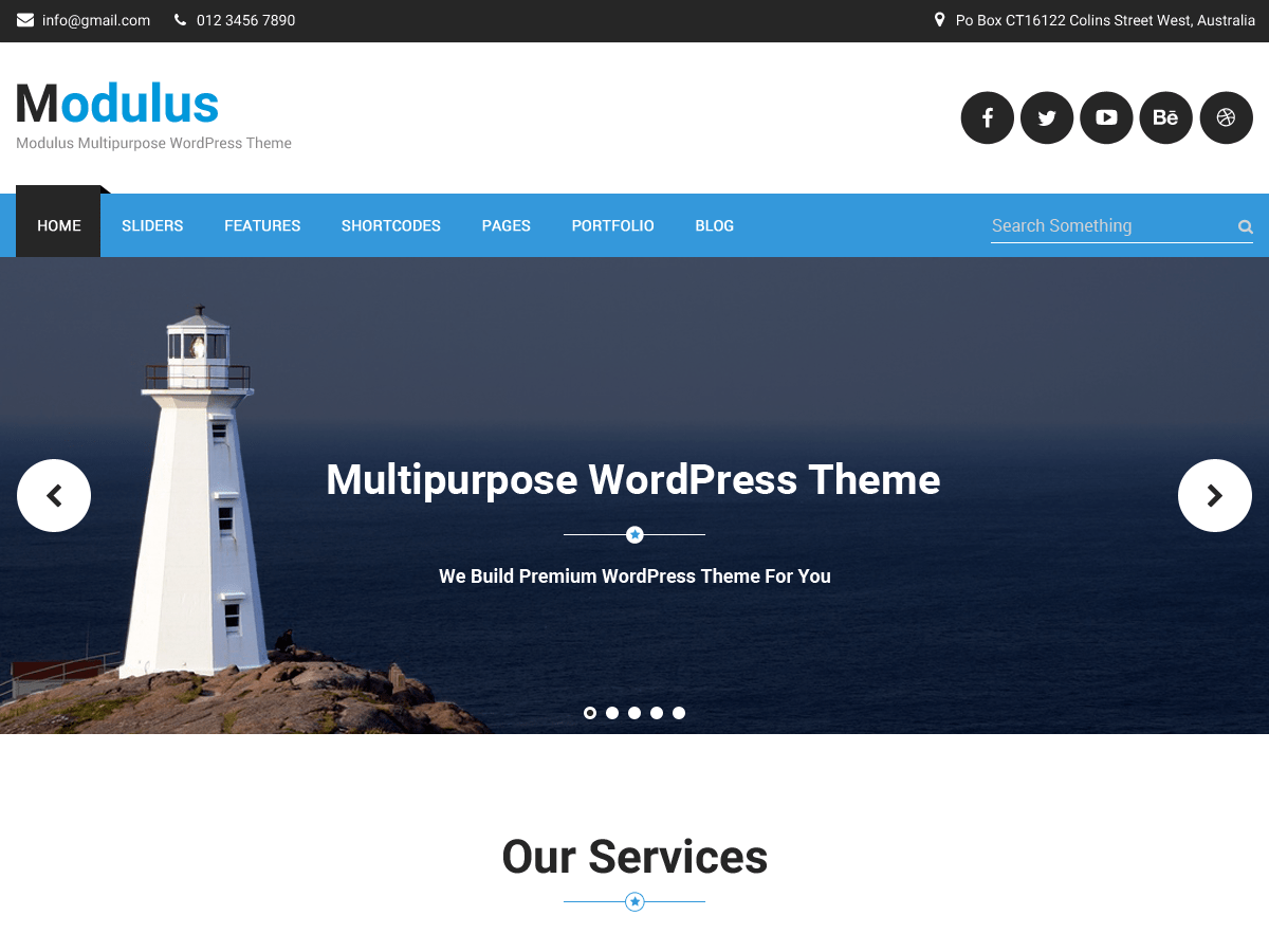 Modulus free wordpress theme