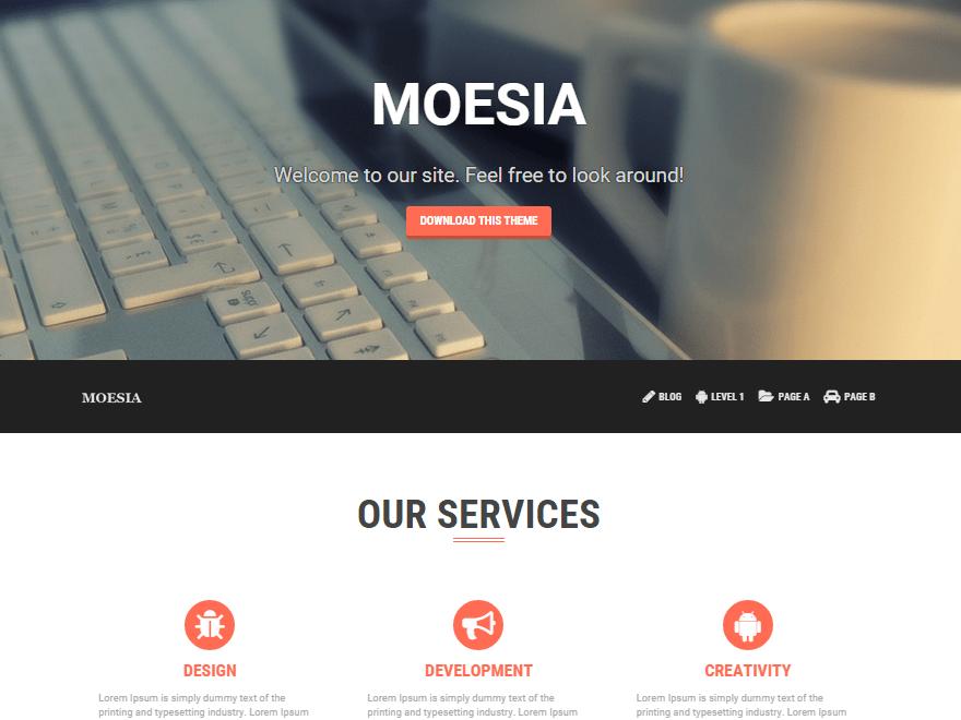 Moesia - Responsive Grid WordPress Theme