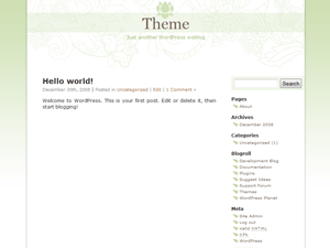 Mondo Zen Theme free wordpress theme