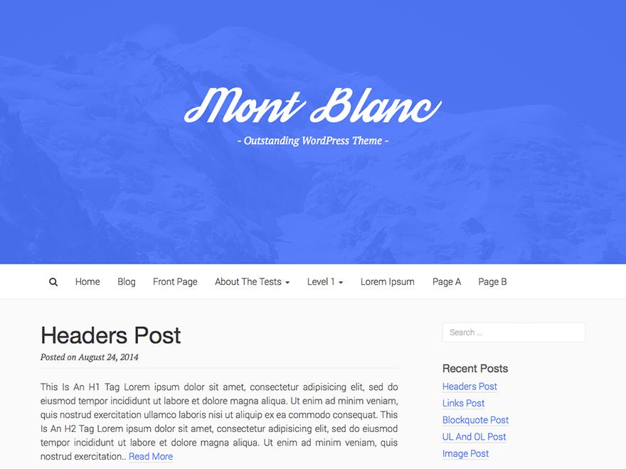 Mont Blanc theme wordpress gratuit